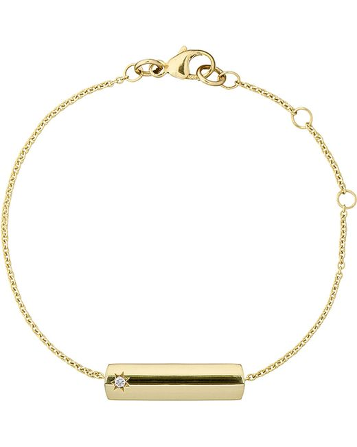 The Alkemistry | Metallic Star Bar 9ct Yellow Gold And Diamond Necklace | Lyst