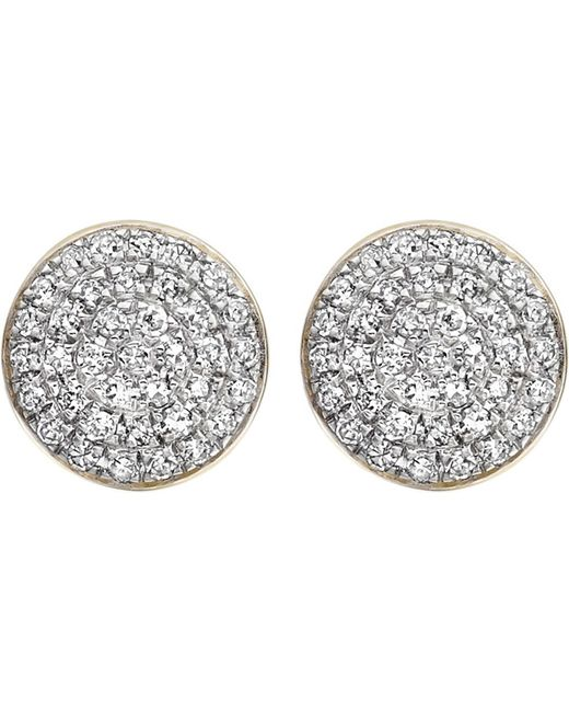 Monica Vinader - Metallic Ava 18ct Gold-plated And Diamond Button Stud Earrings - Lyst