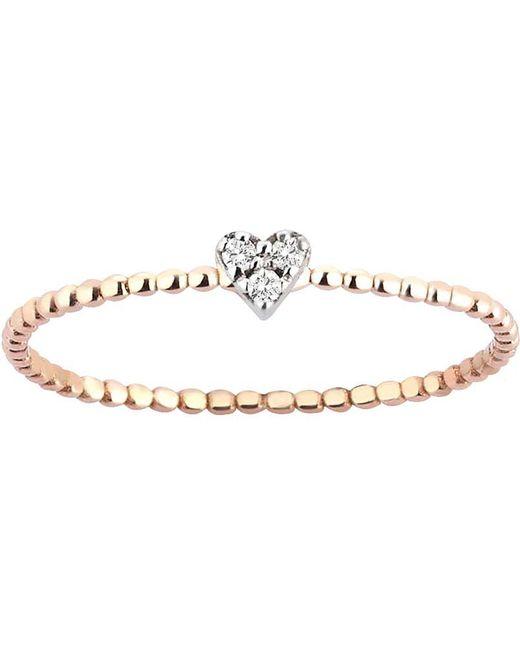 The Alkemistry - Metallic Diamond Heart 14ct Rose-gold Ring - Lyst