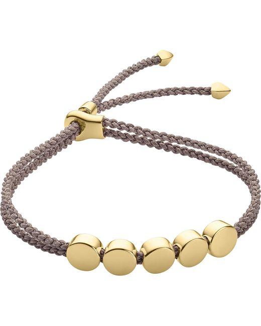 Monica Vinader - Metallic Linear Bead 18ct Gold-plated Friendship Bracelet - Lyst