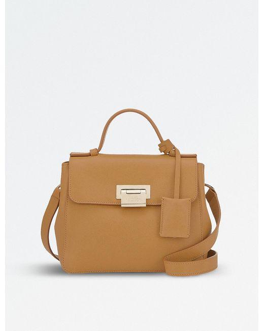 Smythson | Brown Grosvenor Mini Crossbody Bag | Lyst