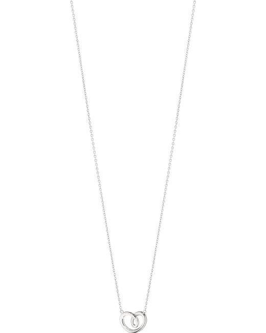 Georg Jensen - Metallic Sterling Silver Curved Heart Pendant - Lyst