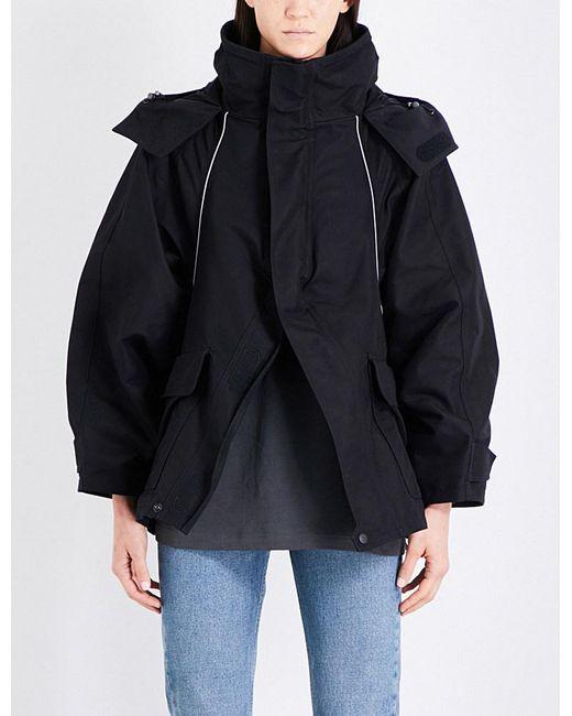Balenciaga | Black Logo-print Hooded Shell Jacket for Men | Lyst