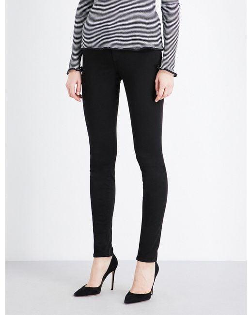 J Brand   Black 485 Luxe Sateen Super-skinny Mid-rise Jeans   Lyst