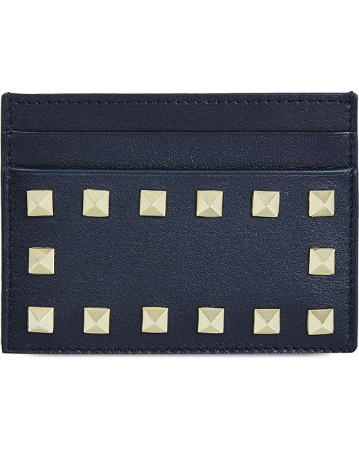 Valentino | Blue Studded Card Holder | Lyst