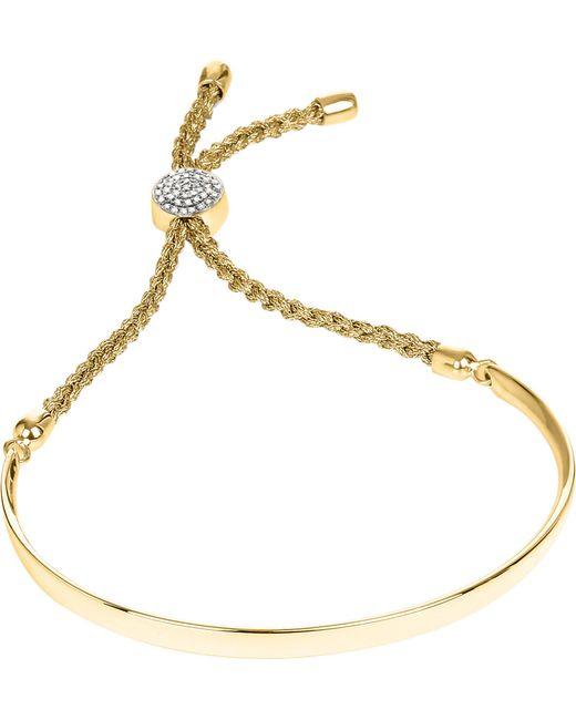 Monica Vinader | Metallic Fiji 18ct Gold-plated And Pavé-diamond Friendship Bracelet | Lyst