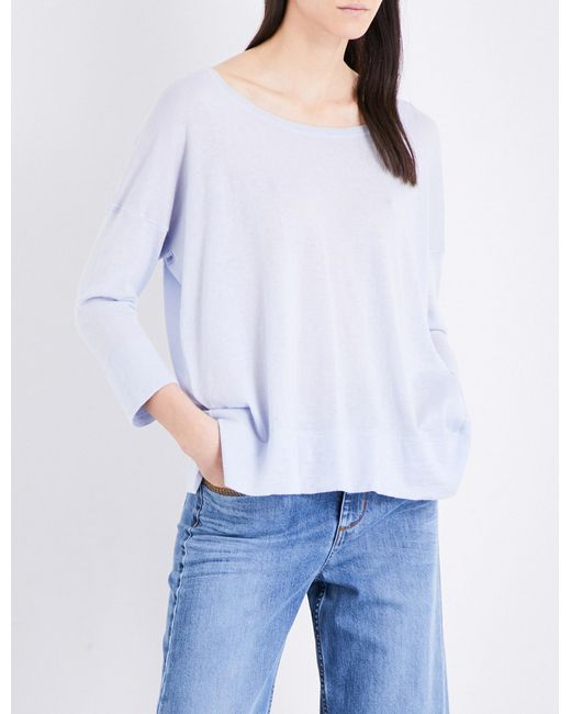 French Connection   White Dropped-shoulder Knitted Jumper   Lyst