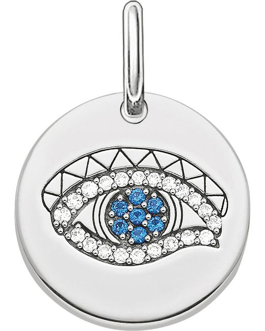 Thomas Sabo - Metallic Eye Of Horus Sterling Silver Pendant - Lyst