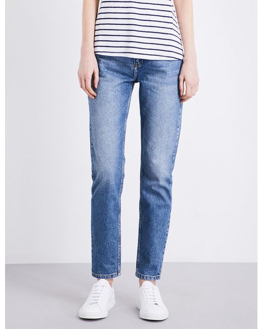 Claudie Pierlot | Blue Perle Tapered High-rise Jeans | Lyst