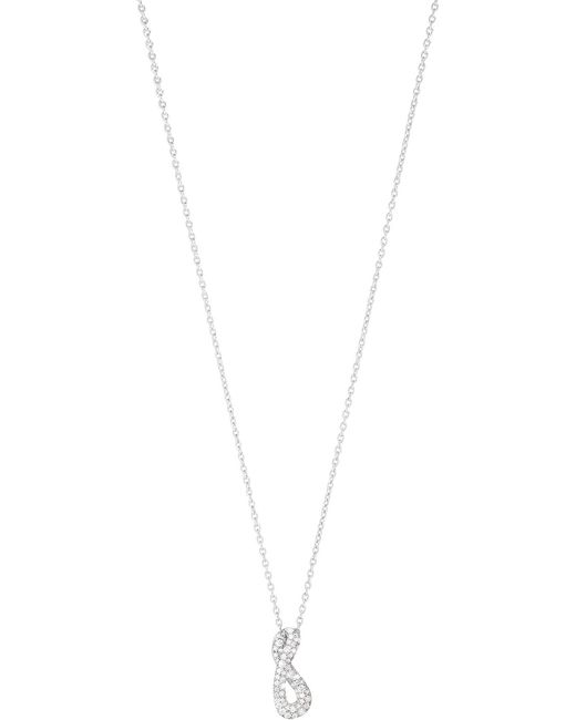Georg Jensen | Metallic Infinity Sterling Silver And Diamond Necklace | Lyst