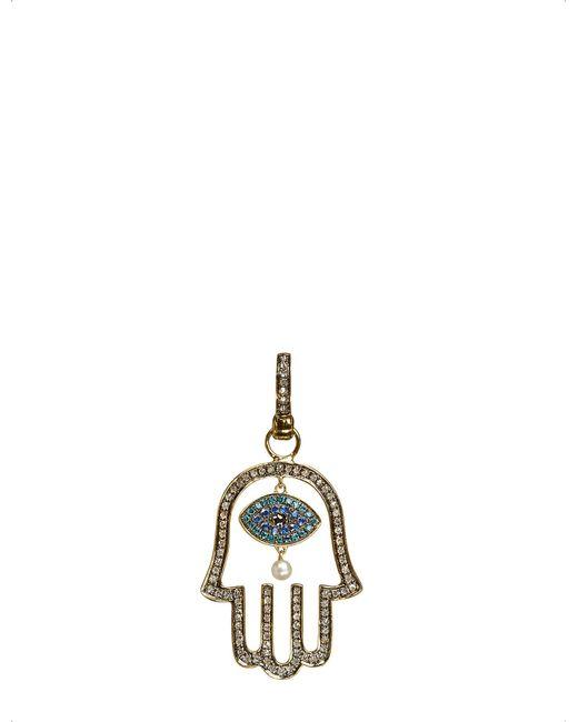 Annoushka | Mythology 18Kt Yellow-Gold, Diamond And Pearl Hand Of Fatima Amulet Pendant - For Women | Lyst