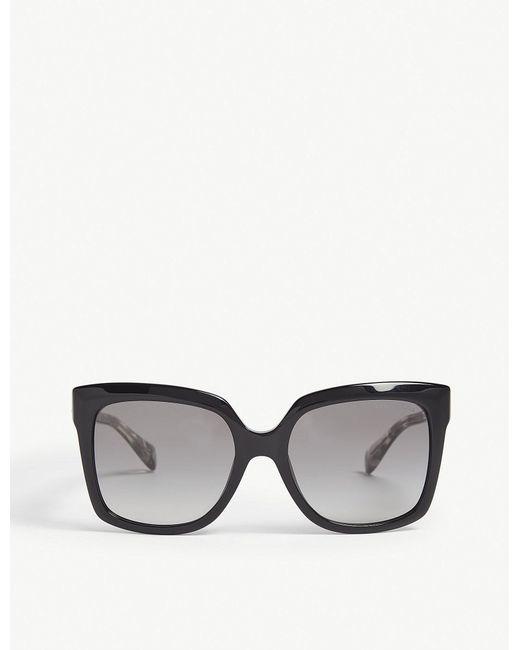 b2d2d3808ee Michael Kors Mk2082 Cortina Square Frame Sunglasses In Black For Men