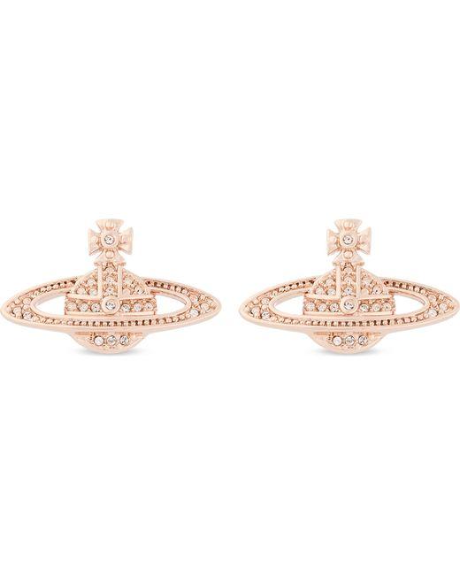Vivienne Westwood | Metallic Mini Bas Relief Diamante Orb Earrings | Lyst