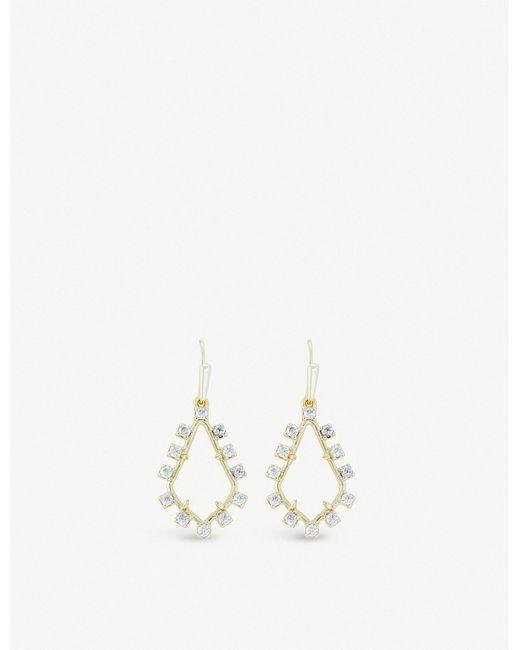Kendra Scott - Metallic Juniper 14ct Gold-plated Brass And Rock Crystal Earrings - Lyst