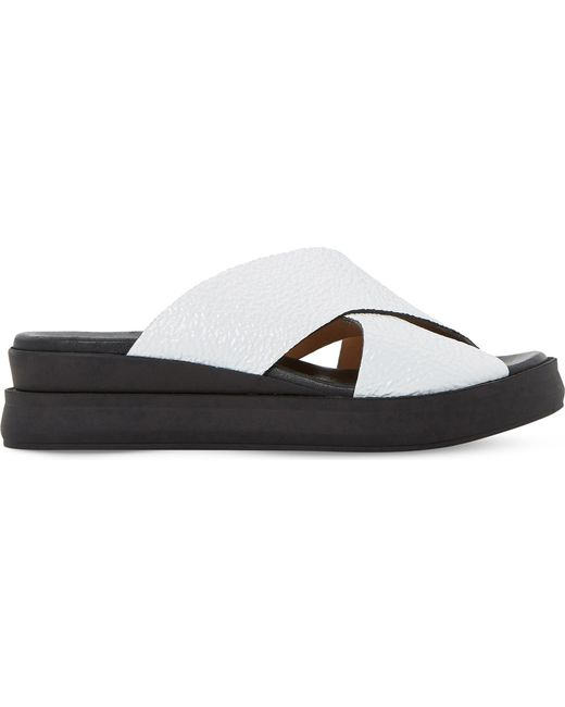 Dune Black | Multicolor Lust Patent-leather Slide Sandals | Lyst