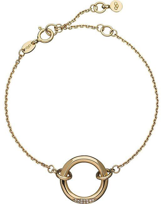 Links of London | Metallic 18ct Yellow-gold And Diamond 20-20 Solo Bracelet | Lyst