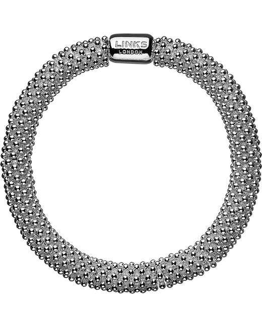 Links of London | Metallic Effervescence Star Large Sterling Silver Bracelet | Lyst