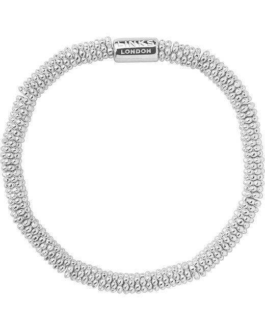Links of London   Metallic Effervescence Sterling Silver Stretch Bracelet   Lyst