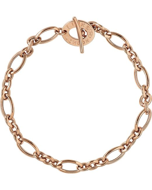 Links of London | Pink Signature 18ct Rose Gold Charm Bracelet | Lyst