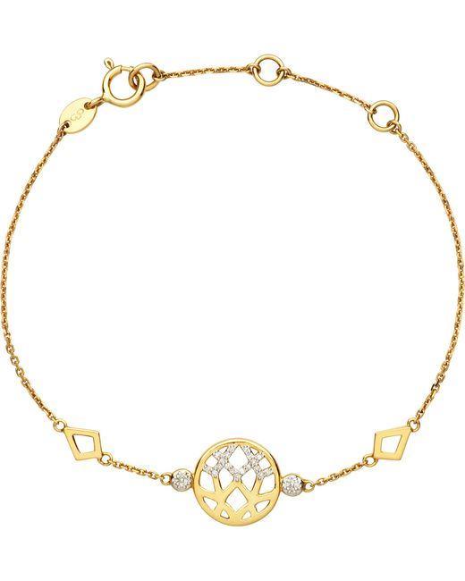 Links of London | Metallic Timeless Gold 18ct Yellow-gold And Diamond Bracelet | Lyst