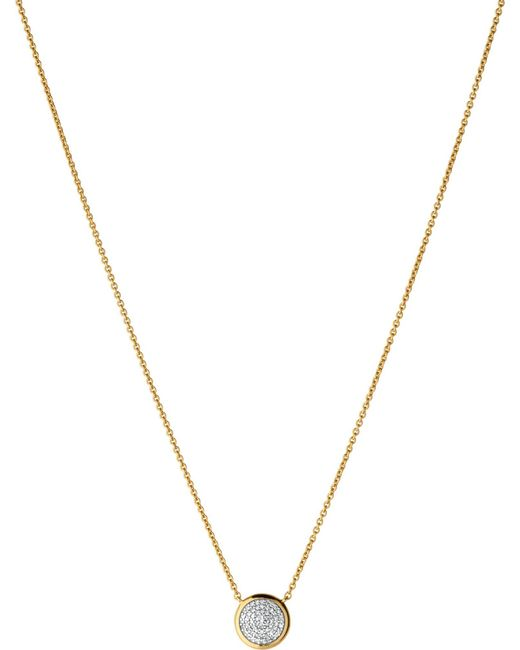 Links of London | Diamond Essentials Pave Yellow Gold Necklace | Lyst
