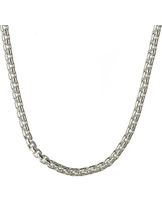 Links of London   Metallic Sterling Silver Box Belcher Chain   Lyst