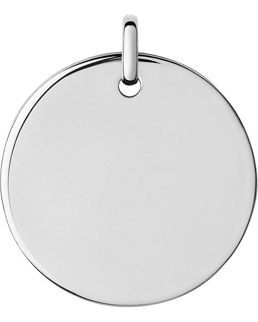 Links of London | Metallic Narrative Sterling Silver Large Round Disc Pendant | Lyst