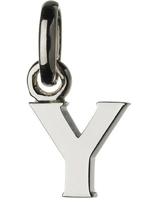 Links of London | Metallic Alphabet Y Sterling Silver Charm | Lyst