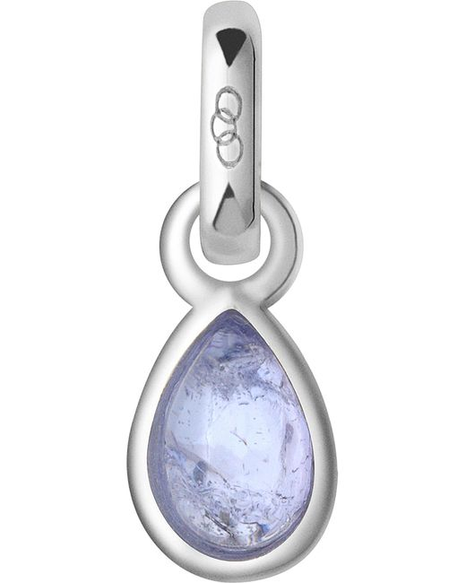 Links of London | Blue December Sterling Silver And Tanzanite Mini Birthstone Charm | Lyst
