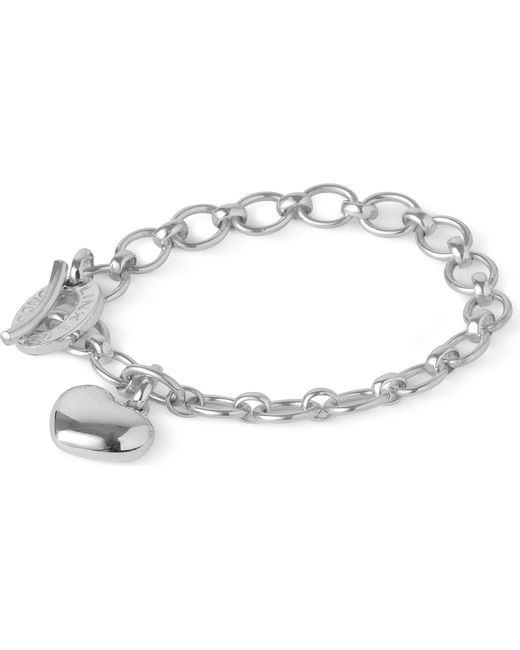 Links of London | Metallic Sterling Silver Bracelet With Heart Charm | Lyst