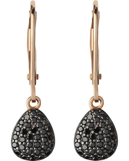 Links of London | Hope 18ct Yellow-gold And Black Diamond Earrings | Lyst