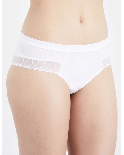 Implicite | White Fiction Stretch-jersey And Lace Shorty Briefs | Lyst