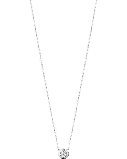 Georg Jensen | Aurora 18ct White-gold And Diamond Necklace | Lyst