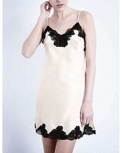 Nk Imode | Metallic Morgan Silk-satin And Lace Chemise | Lyst