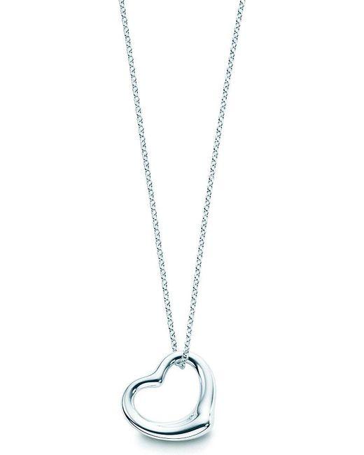 Tiffany & Co | Metallic Elsa Peretti® Open Heart Pendant In Sterling Silver | Lyst