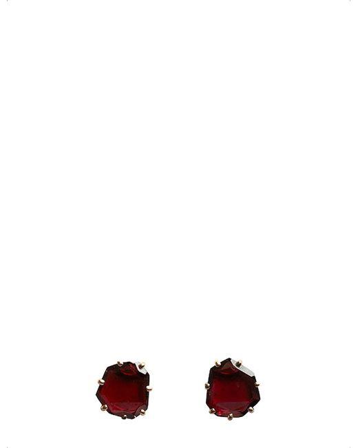 Annoushka - Red Shard 18ct Rose-gold And Garnet Stud Earrings - Lyst