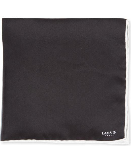 Lanvin | Black Colour-block Pocket Square for Men | Lyst