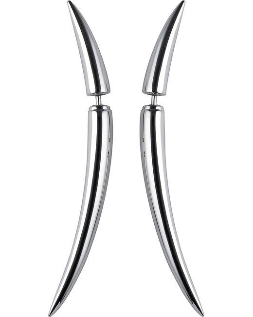 Shaun Leane - Black Quill Silver Earrings Size 1 - Lyst