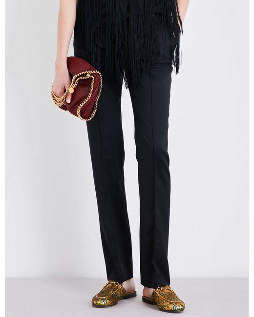 Stella McCartney - Black Anna Straight-leg Wool Trousers - For Women - Lyst