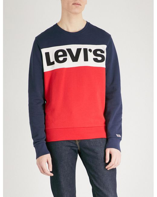 Levi's | Red Olympic Cotton-jersey Sweatshirt for Men | Lyst