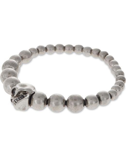 Alexander McQueen | Gray Beaded Skull Bracelet | Lyst