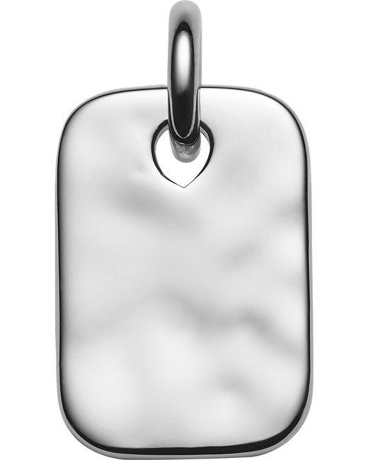 Monica Vinader - Black Havana Mini Id Sterling Silver Pendant - Lyst