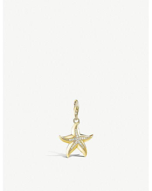 Thomas Sabo - Metallic Starfish 18ct Yellow Gold-plated Pendant - Lyst