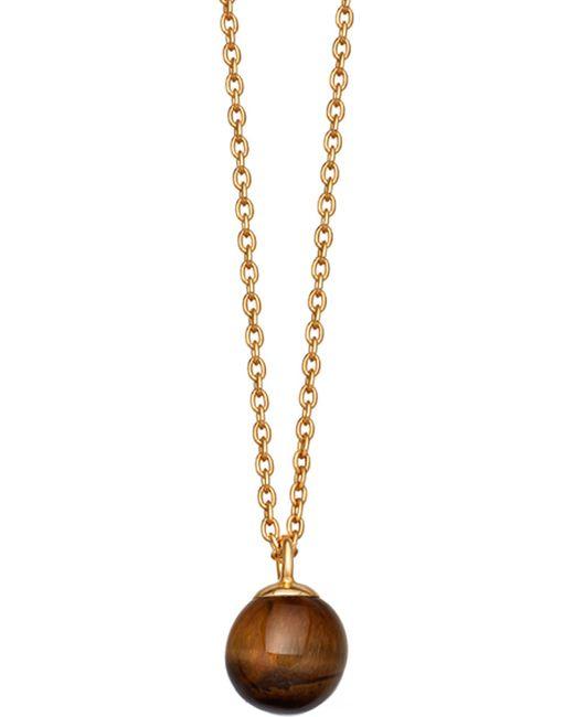 Astley Clarke - Black Peggy Yellow Gold-vermeil & Tigers Eye Pendant Necklace - Lyst