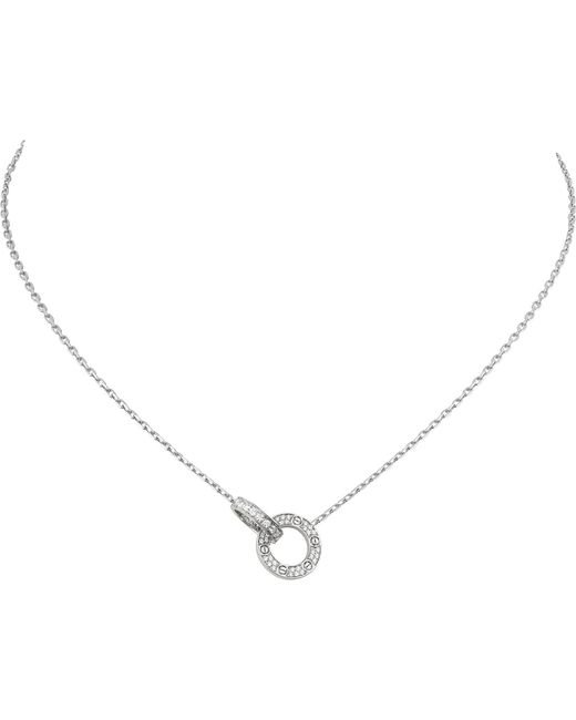 Cartier - Love 18ct White-gold And Diamond Necklace - Lyst