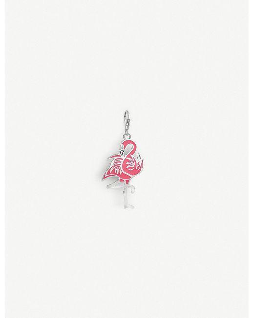 Thomas Sabo - Metallic Charm Club Enameled Sterling Silver Flamingo Charm - Lyst