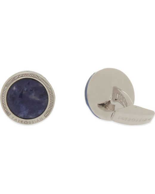 Tateossian - Blue Tetris Cufflinks for Men - Lyst