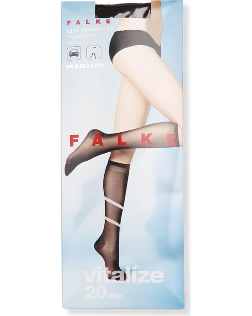 Falke - Black Vitalize 40 Denier Knee-high Tights - Lyst