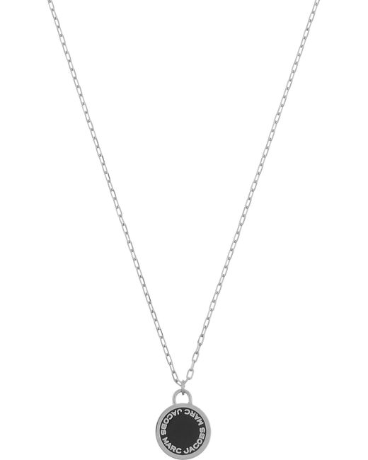 Marc Jacobs - Metallic Enamel Logo Disc Necklace - Lyst