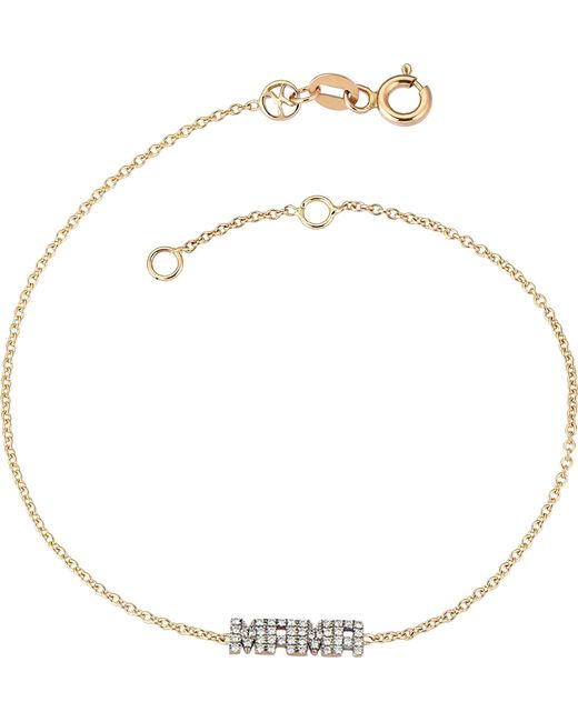 The Alkemistry - Metallic Kismet By Milka Mama 14ct Rose Gold And Diamond Bracelet - Lyst